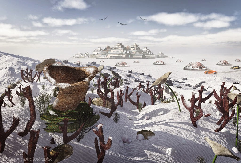 Weirdo winter 3d graphic landscape picture