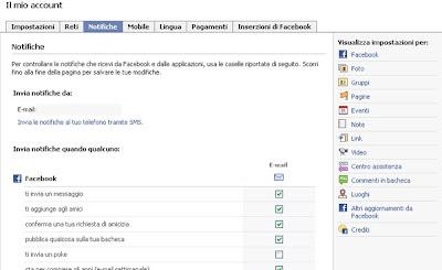 facebook gruppo impostazioni