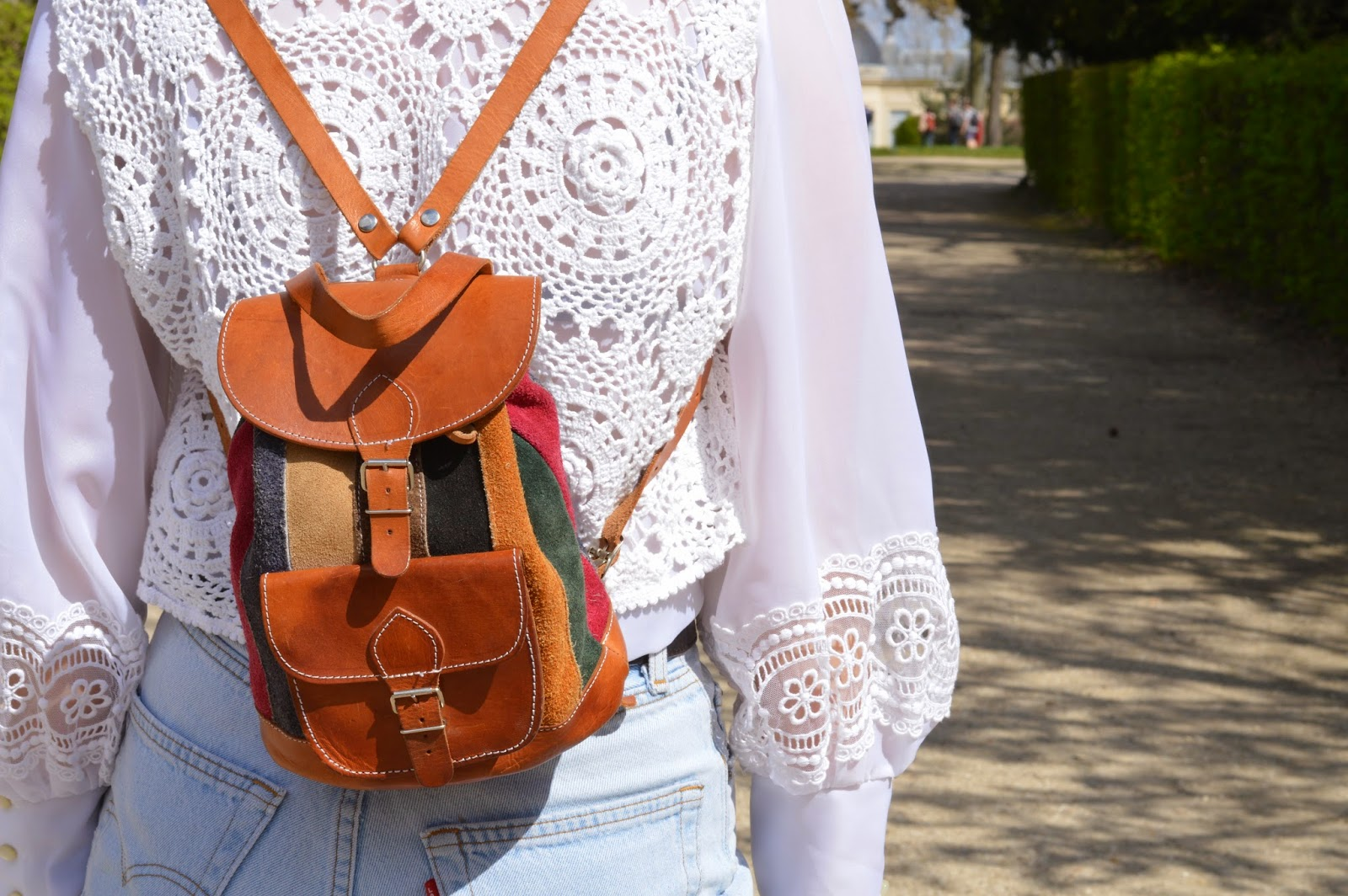 Seventies mini suede backpack