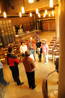 Wedding rehearsal of Denise and Phillip at Cast Iron Studios.  Patricia Stimac, Seattle Wedding Officiant.