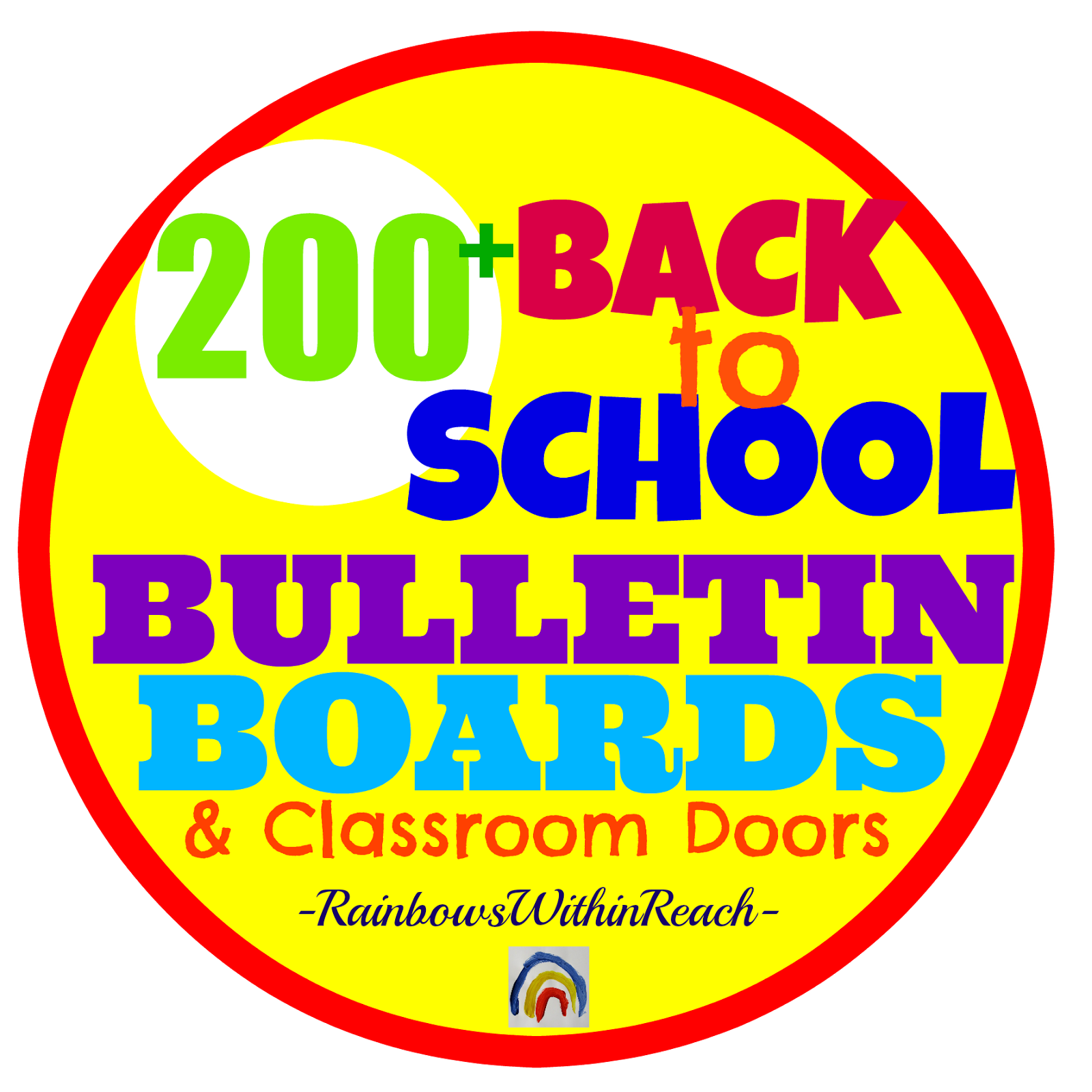 Back-to-School Bulletin Board Collection at RainbowsWIthinReach