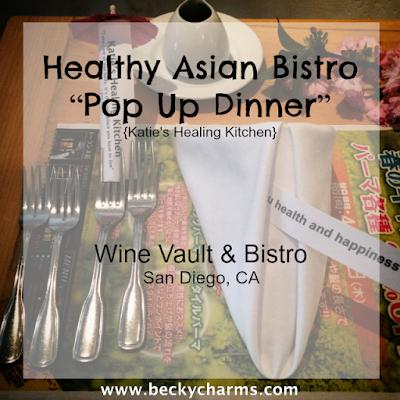 Katie's Healing Kitchen Vegan Asian PopUp Dinner at Wine Vault & Bistro || www.beckycharms.com
