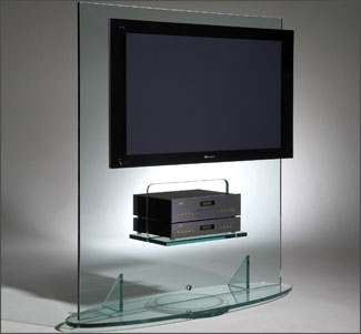 Modern lcd tv glass stand ideas an interior design for Table tv design
