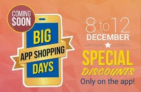 flipkart big app shopping days offers