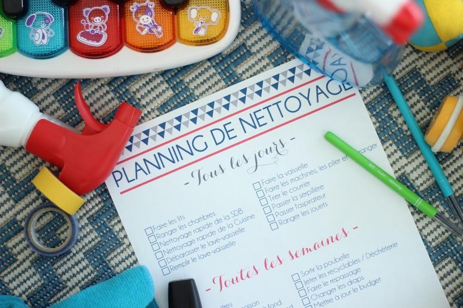 Deux soeurs un agenda des id es pour le quotidien des parents planning de nettoyage - Organisation m u00e9nage quotidien ...