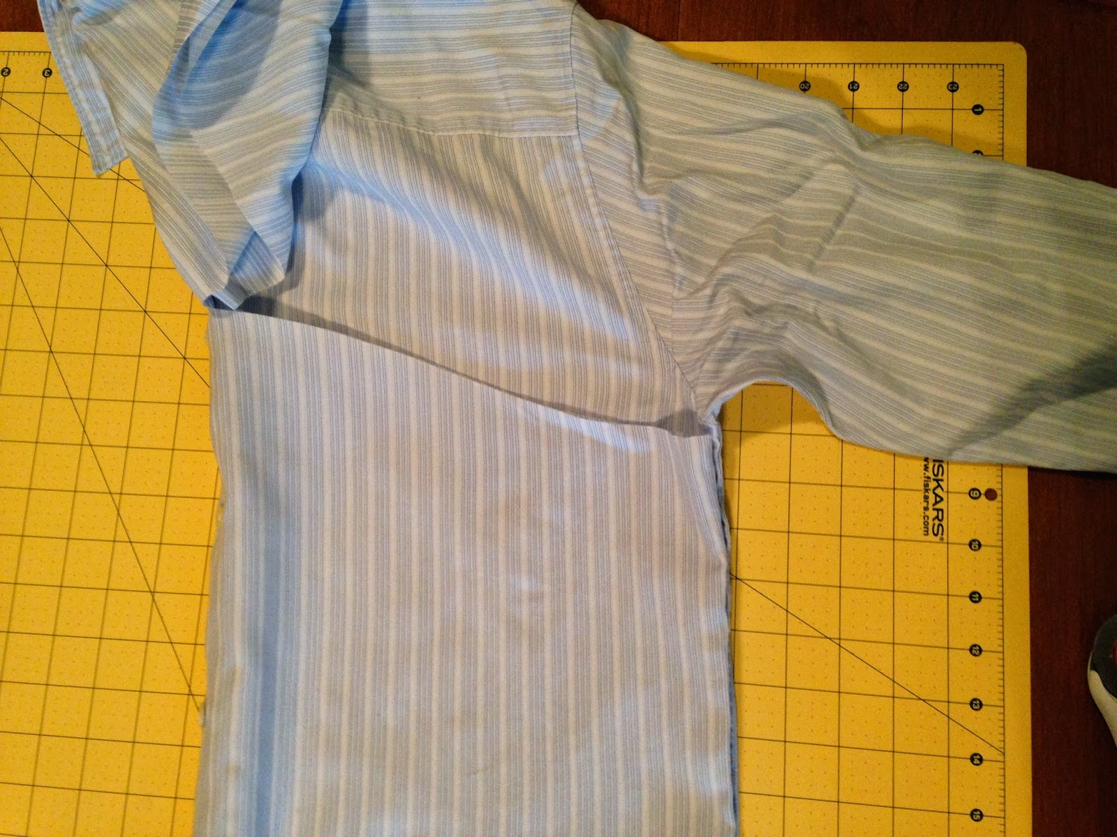 Ulterior Alterations: Refashioned Tank from Men's Button Down chop 2