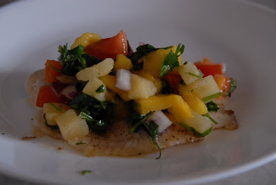 food gifts: tilipia with pineapple mango salsa…