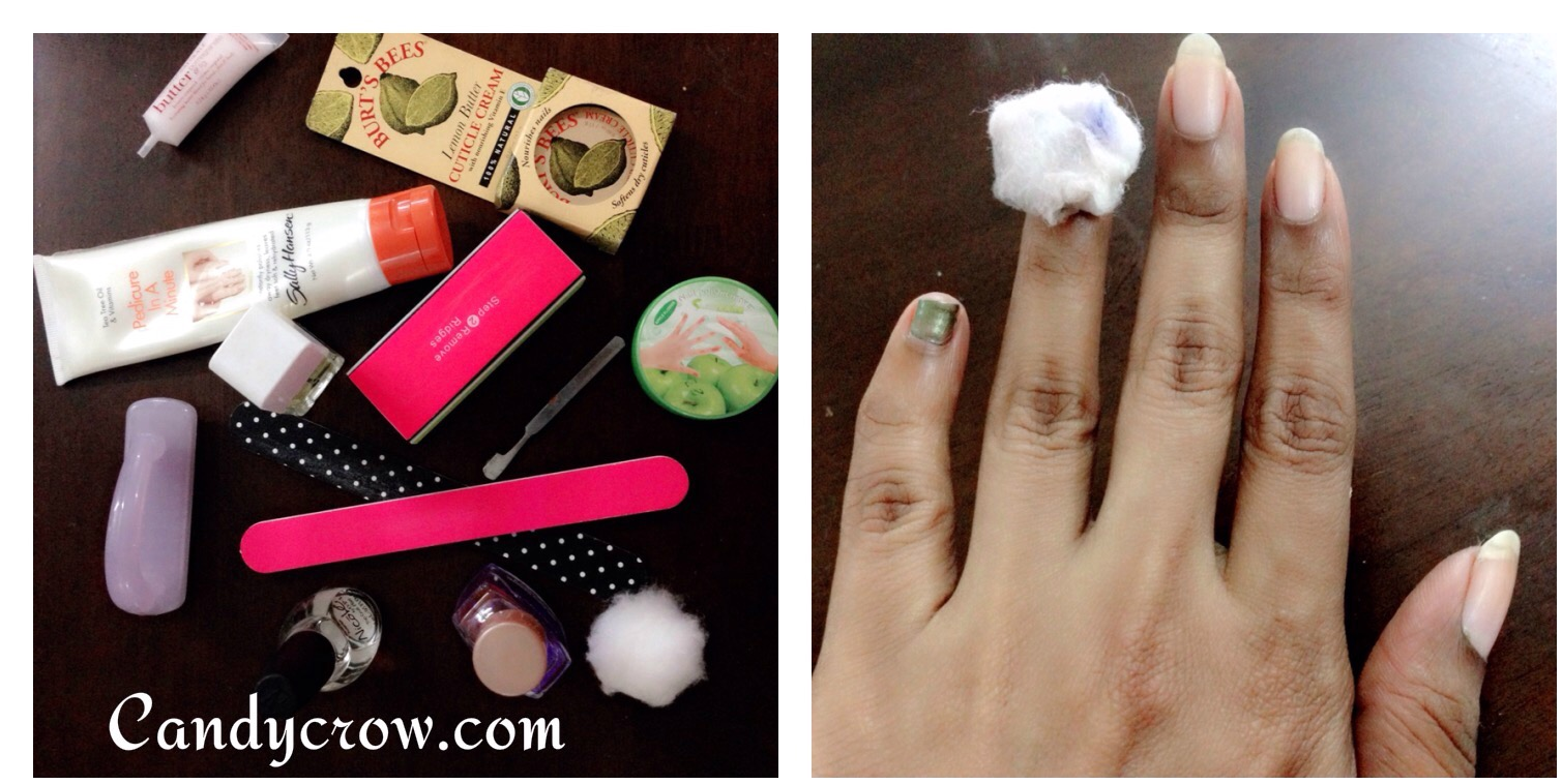Diy manicure in 6 steps candy crow top indian beauty and diy manicure in 6 steps hoe to do manicure at home manicure steps solutioingenieria Gallery