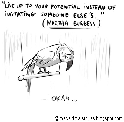 quote live up to your potential instead of imitating someone else's martha burgess