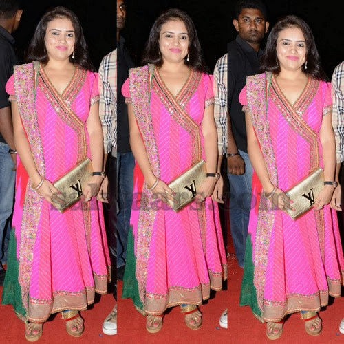 Harris Jayaraj Wife Pink Churidar