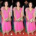 Harris Jayaraj Wife Pink Churidar