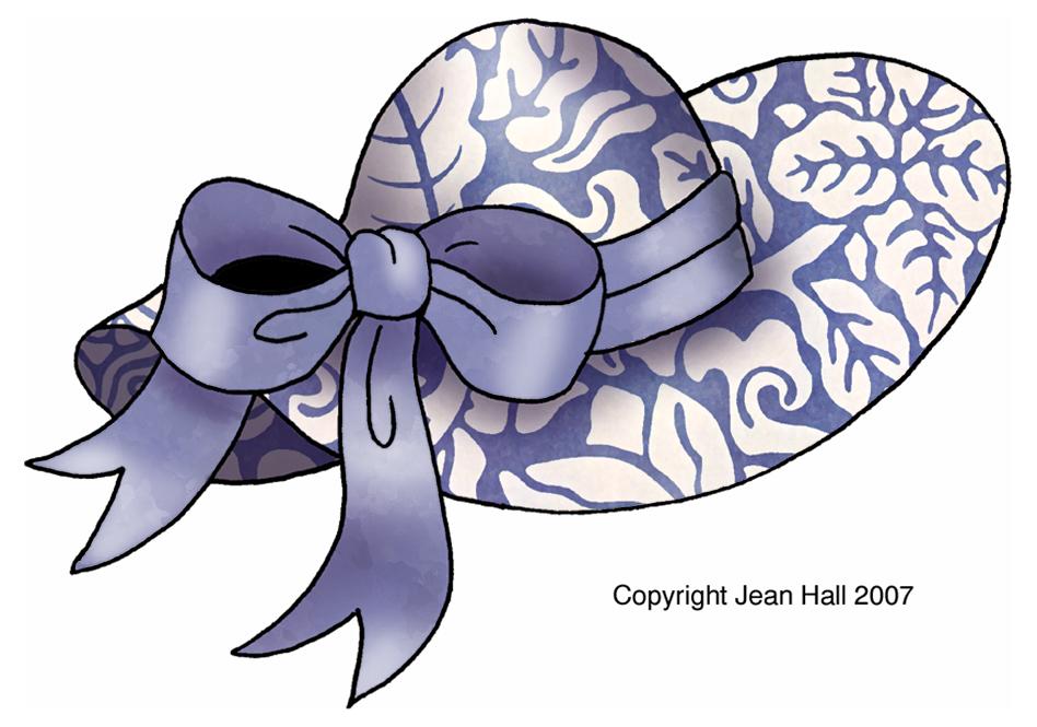 artbyjean easter clip art easter bonnets in wedgewood blue floral rh abj eggs blogspot com clipart bonnet de pere noel baby bonnet clipart