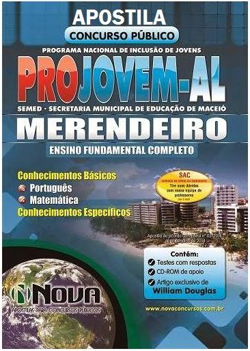 Apostila Merendeiros PROJOVEM URBANO município de Maceió 2014