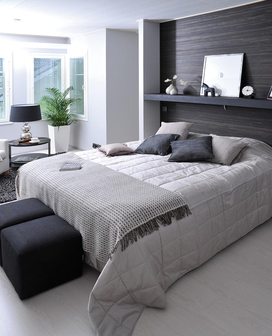 Dormitorios con blanco y negro dormitorios colores y estilos for Habitaciones con muebles blancos