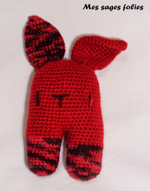 lapin au crochet/ crocheted rabbit