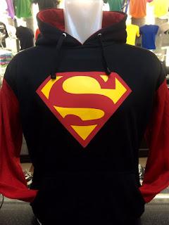 gambar desain terbaru jaket hoodie musim depan foto photo kamera Jaket sweater Superman warna hitam kombinasi merah terbaru di enkosa sport toko online terpercaya lokasi di jakarta pasar tanah abang