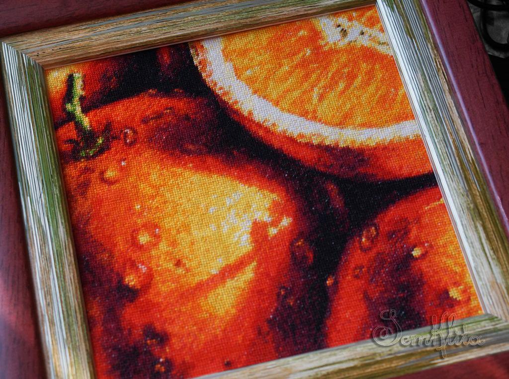 схема вышивки апельсин