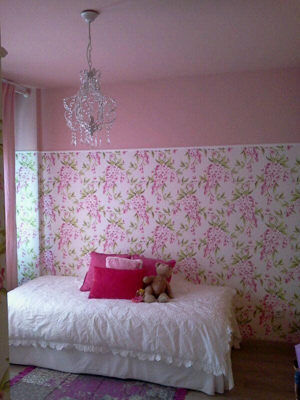Decoraci n con pintura pl stica y papel pintado pintor - Habitaciones con papel pintado y pintura ...