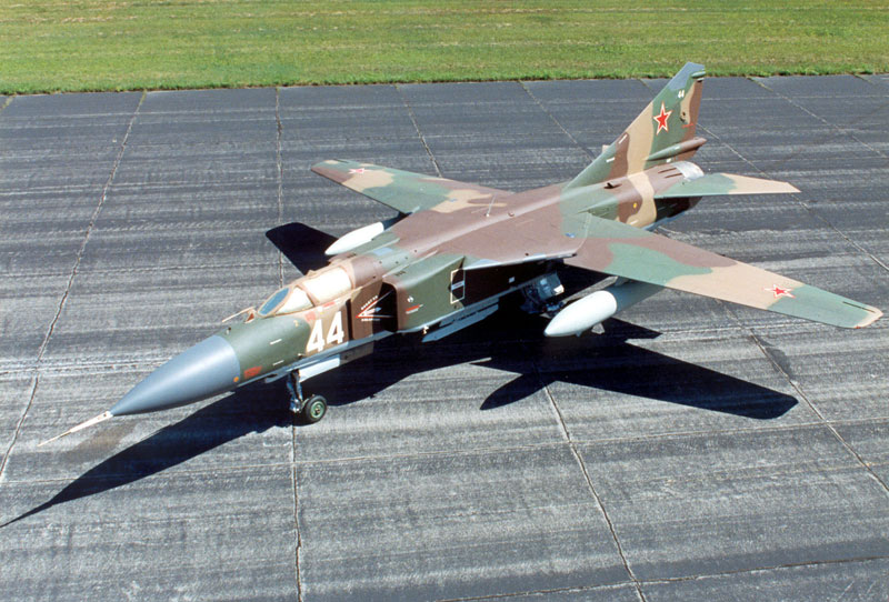MiG-23 Flogger Single Engine Rusian jet fighter