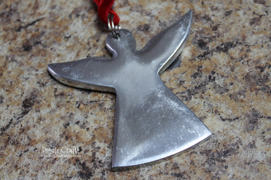 Doodlecraft you are an angel metal stamped ornament