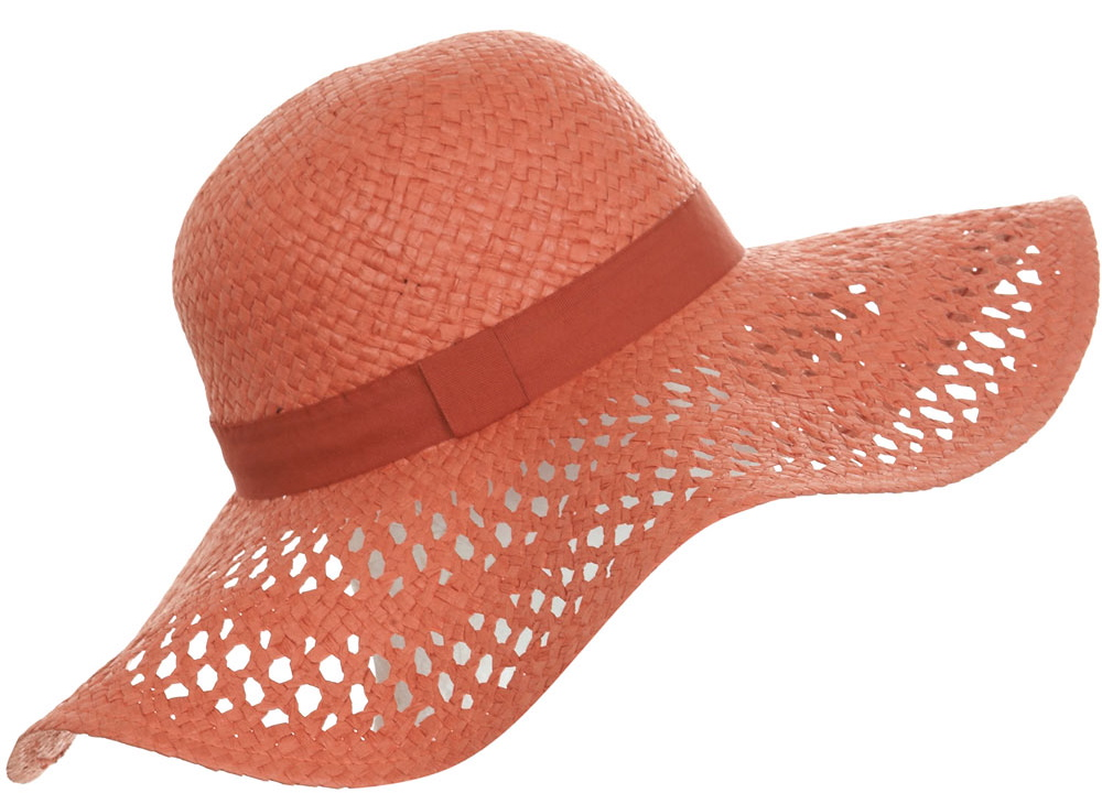 Straw Sun Hat Clip Art Orange floppy straw hat