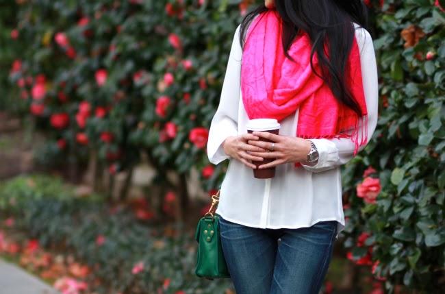 fuchsia pink magenta bright scarf accessory accessorize