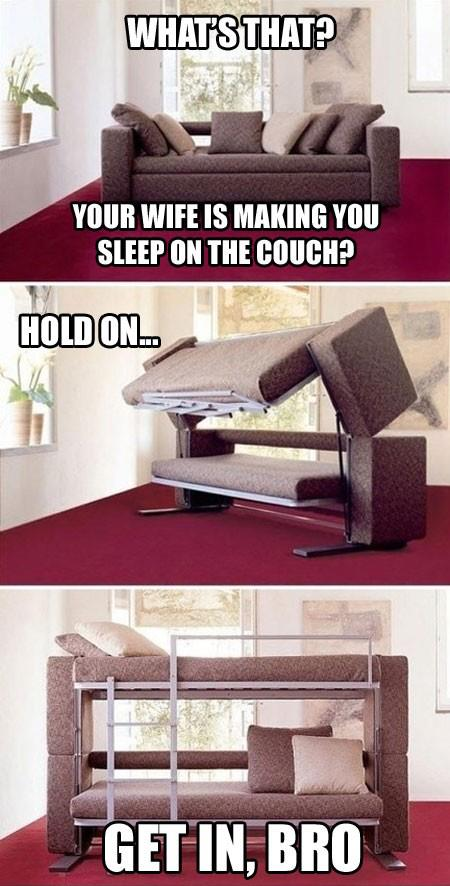 Your Wife Is Making You Sleep On The Couch?