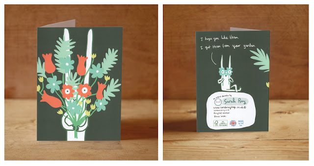 http://sarahrayshop.myshopify.com/collections/cards/products/rabbit-with-flowers-card