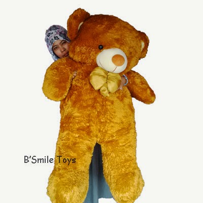 jual boneka teddy bear besar cokat muda