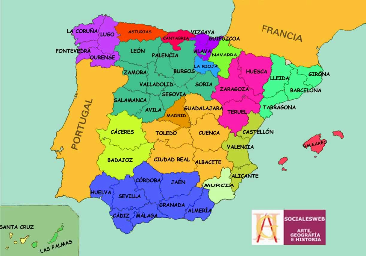 Mapa De Espaa Madrid  My blog