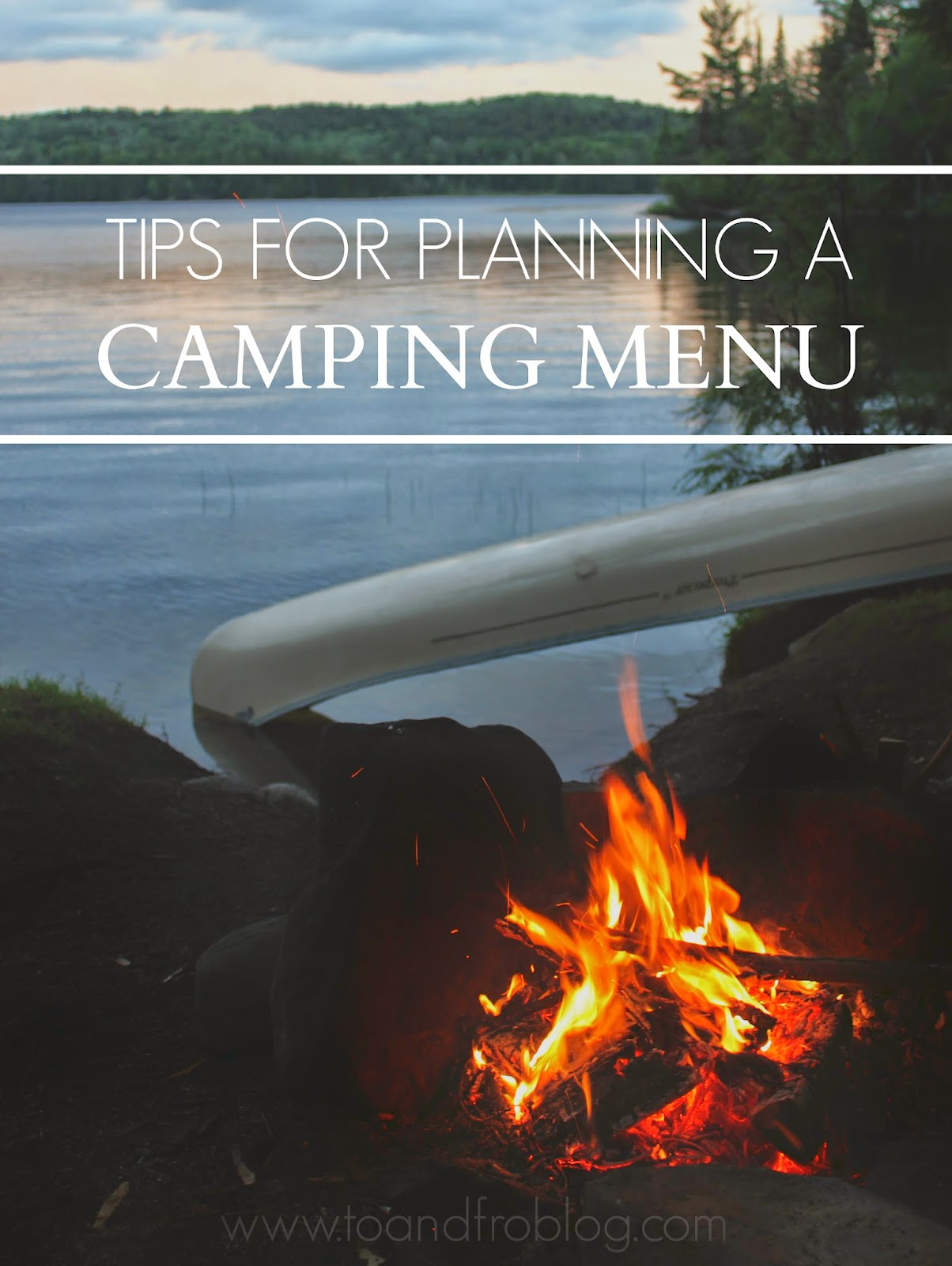 tips for camping menu planning