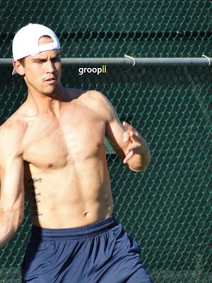 Ryan Sweeting Shirtless at Cincinnati Open 2010