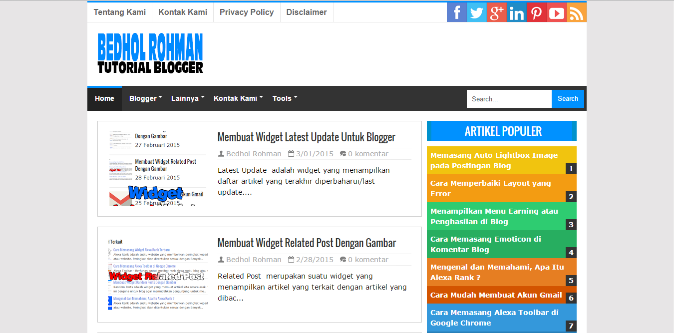 CermatSEO Responsive Blogger Template
