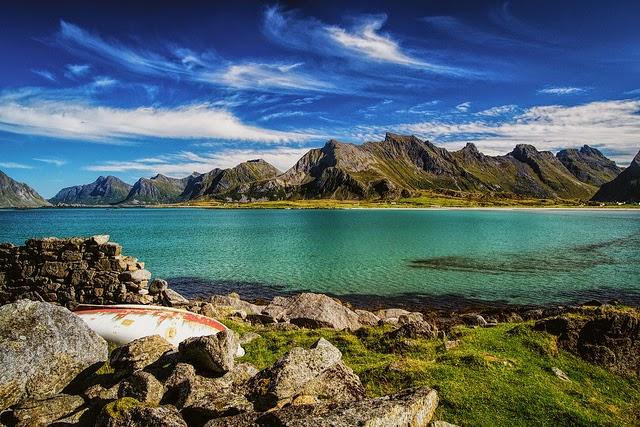 paisaje montañas islas lofoten