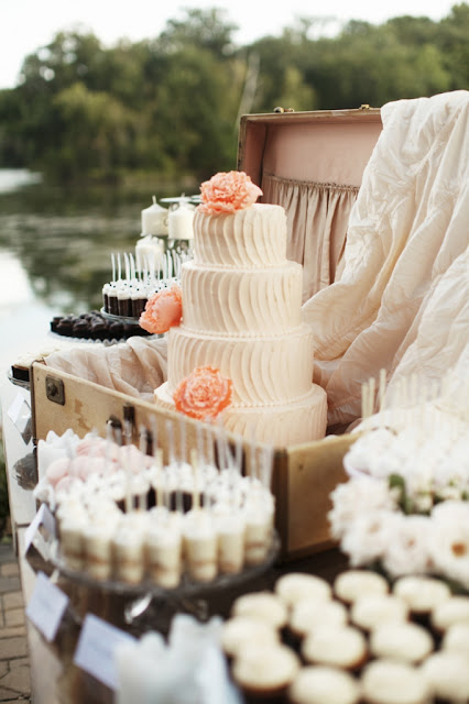 Minneapolis Dessert Table with 4 Tier Cake
