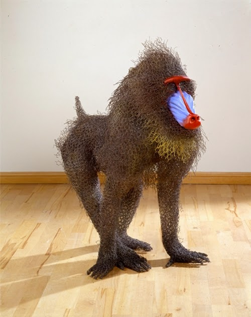 14-Mandrill-Kendra-Haste-Galvanised-Wire-Animal-Sculptures-www-designstack-co