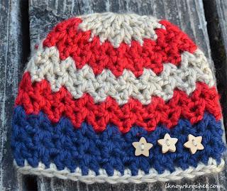 patriotic newborn beanie
