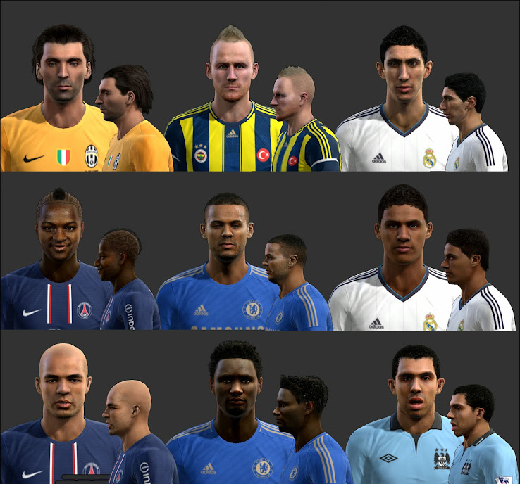 PES 2013 International Facepack by Tunizizou