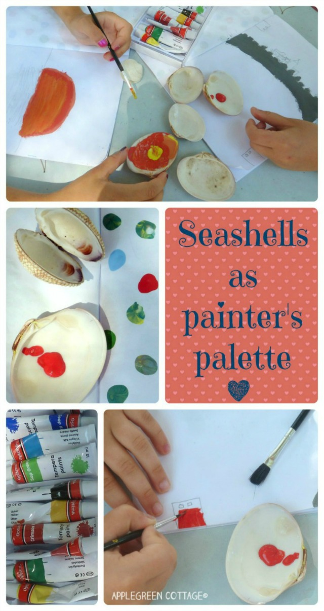 seashells as painter's palette