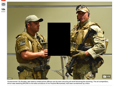 Censored photo of Garland Texas SWAT officers