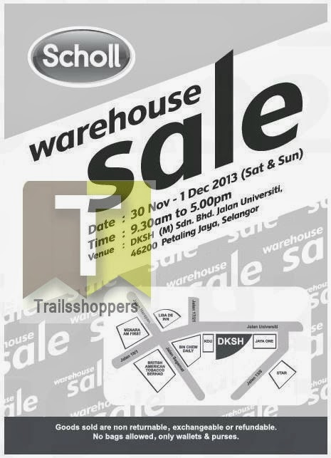 Scholl Warehouse Sale 2013