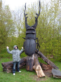 Getting scared off of a Giant Beetle in Guildford