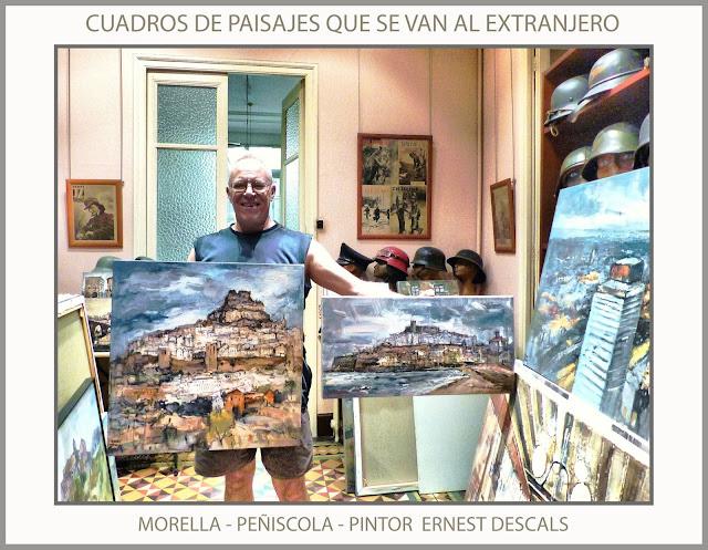 MORELLA-PEÑISCOLA-PINTURAS-PAISAJES-ESPAÑA-PINTURA-CUADROS-ARTISTA-PINTOR-ERNEST DESCALS