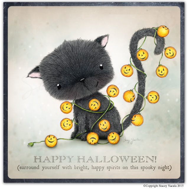 black cat, pumpkins, halloween, stacey yacula