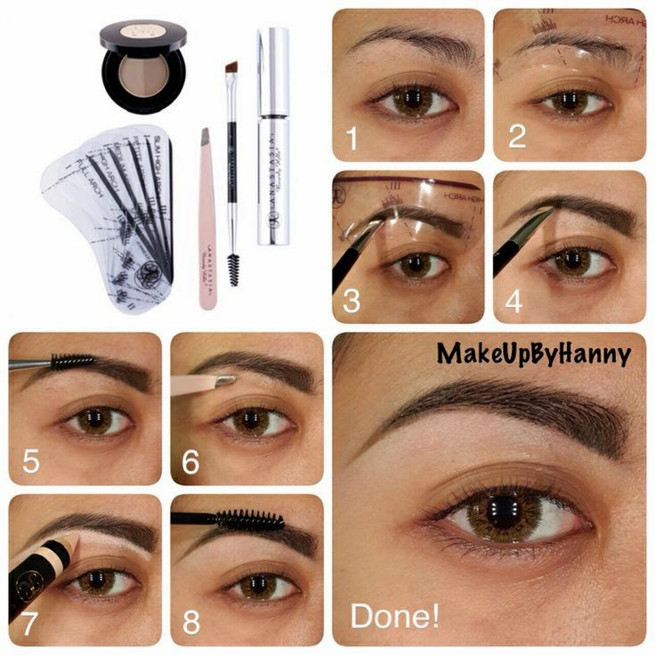 how to draw on eyebrows when you have none