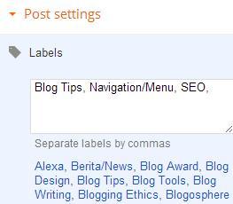 cara membuat label.kategori artikel di blogger