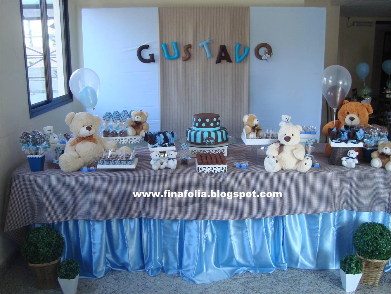 decoracao festa urso azul e marrom:Festas Ch De Beb Urso Marrom E Azul Ursos Marrom E