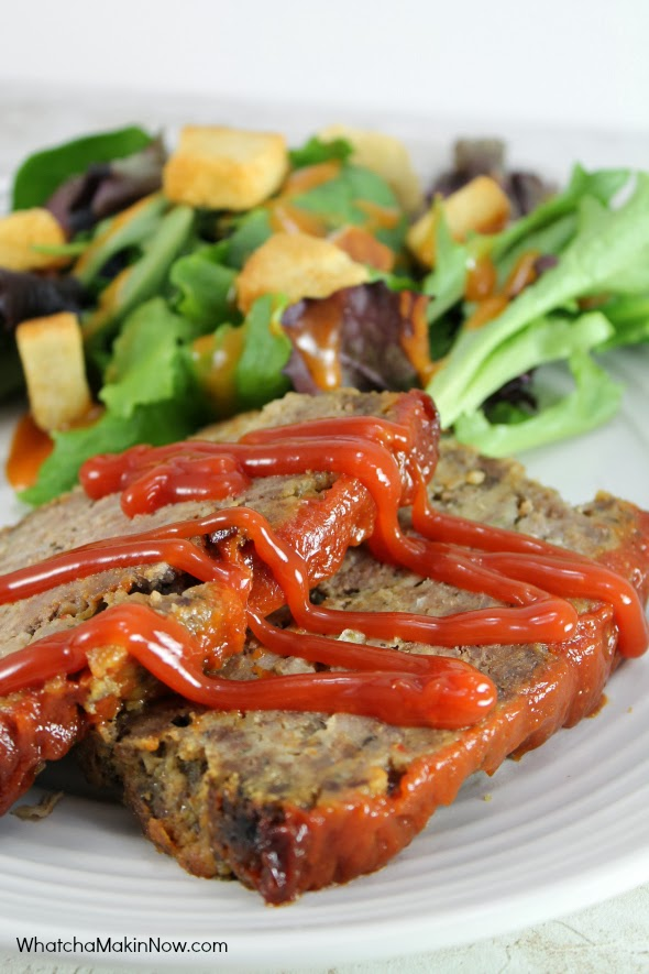 Meatloaf using ground venison - lean, flavorful, and easy to make! Makes great sandwiches too!
