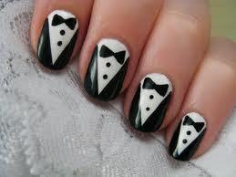 tuxedo nail art designs