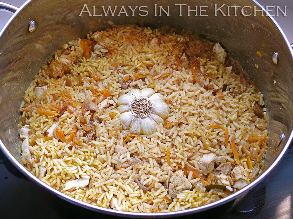 Always in the Kitchen: Chicken Plov — Chicken and Rice, Uzbek Style
